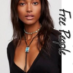 Free People Thunder Cloud Black Opal Necklace NWT